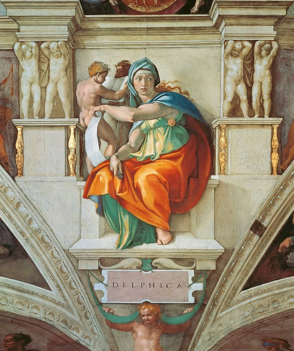 The Delphic Sibyl. Michelangelo Buonarroti