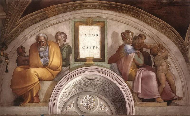 Иаков - Иосиф. Микеланджело Буонарроти
