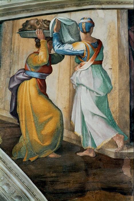 Judith and Holofernes (fragment). Michelangelo Buonarroti