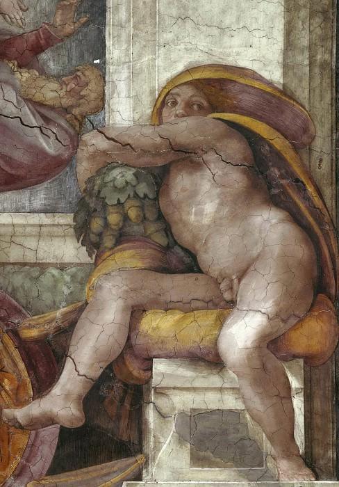 Иньюди (Обнаженные). Микеланджело Буонарроти