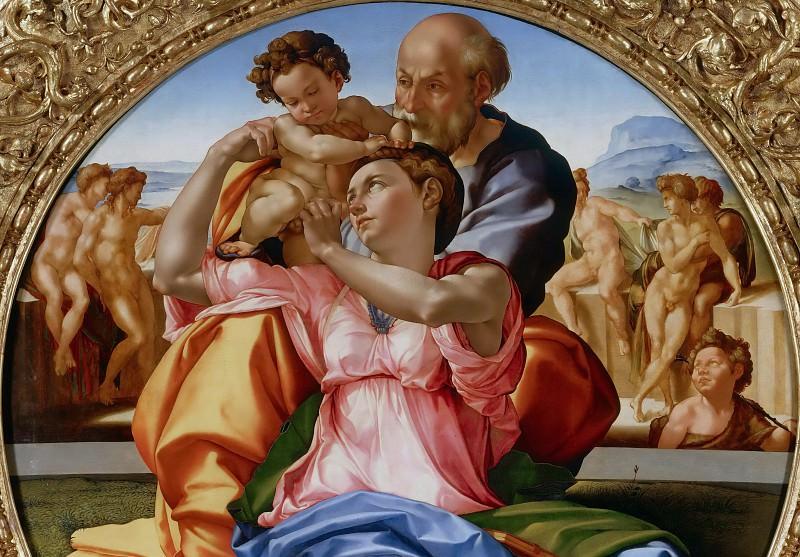 Тондо Дони (фрагмент). Микеланджело Буонарроти