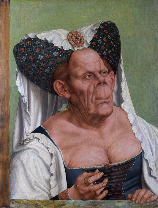 An Old Woman (The Ugly Duchess) 1515. Quentin Massys