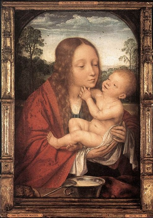 Virgin and Child in a Landscape. Quentin Massys
