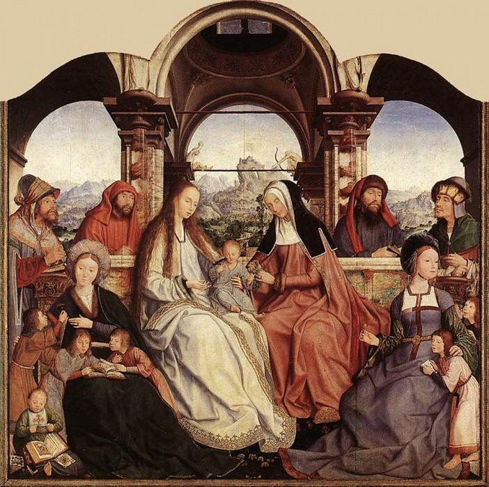 St Anne Altarpiece central panel. Quentin Massys