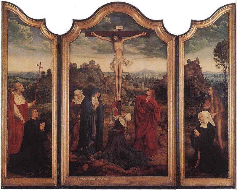 Christ on the Cross with Donors. Quentin Massys
