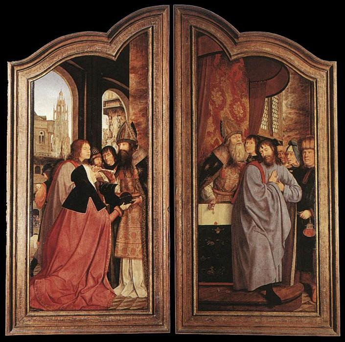 St Anne Altarpiece closed. Quentin Massys