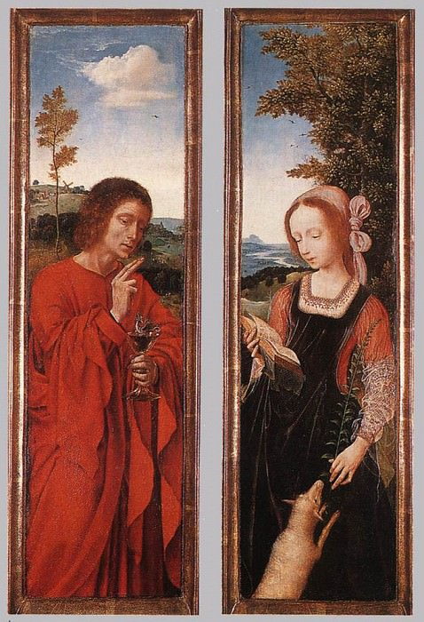 John the Baptist and St Agnes. Quentin Massys
