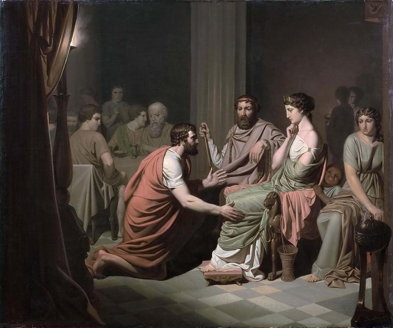Odysseus before Alcinous, King of the Phaeacians. Johan August Malmström