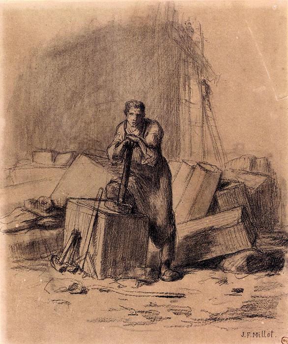 Каменотес. Жан-Франсуа Милле
