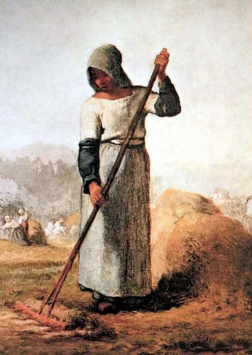 В поле. Жан-Франсуа Милле