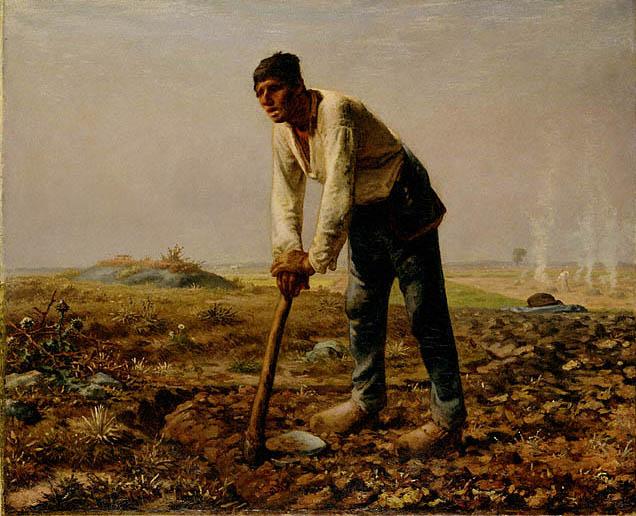 Человек с мотыгой. Жан-Франсуа Милле