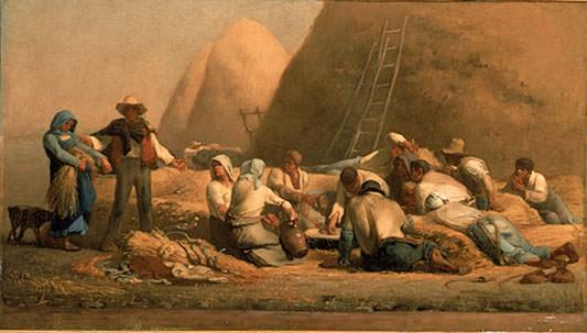 Harvesters Resting Ruth and Boaz. Jean-François Millet
