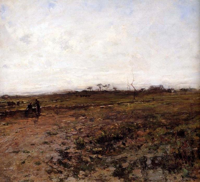 Landscape With Two Peasant Women. Jean-François Millet