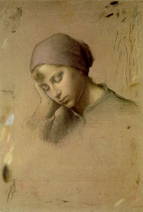Head Of A Young Girl. Jean-François Millet