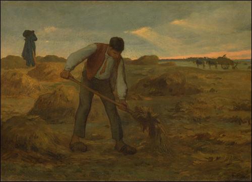 Peasant Spreading Manure. Jean-François Millet