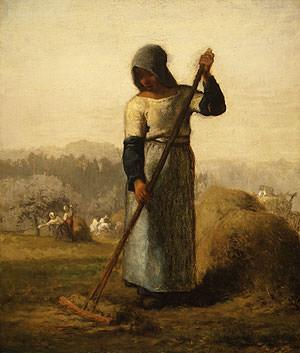 Женщина с граблями. Жан-Франсуа Милле