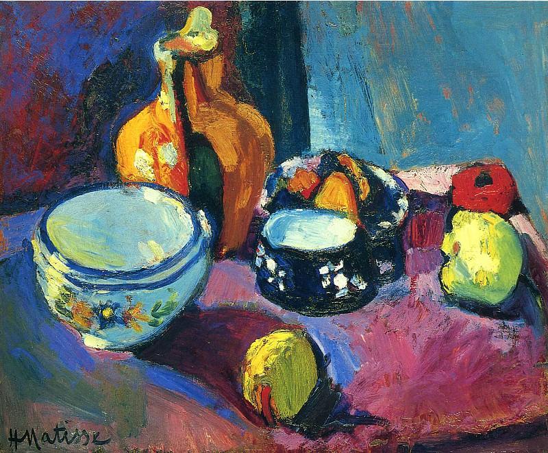 Посуда и фрукты, 1901. Анри Матисс