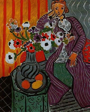 robe-violette-anemones. Henri Matisse