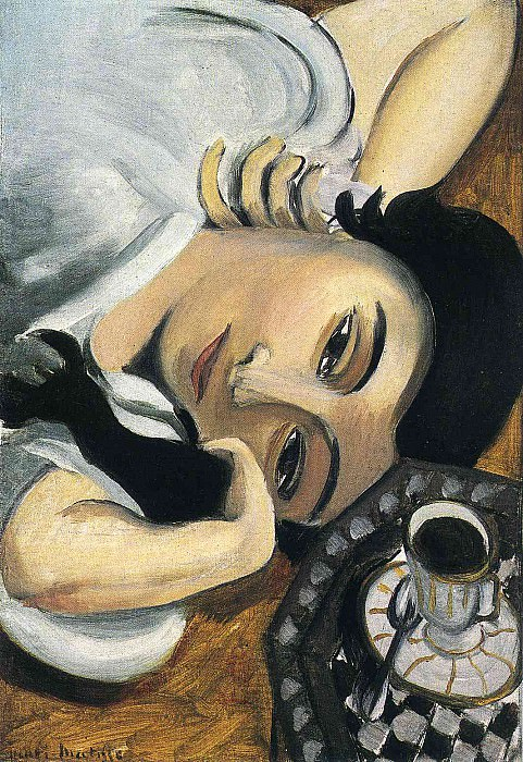Lorette with Cup of Coffee, 1917. Henri Matisse