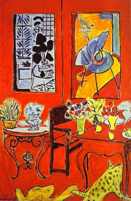 Large Red Interior. Henri Matisse