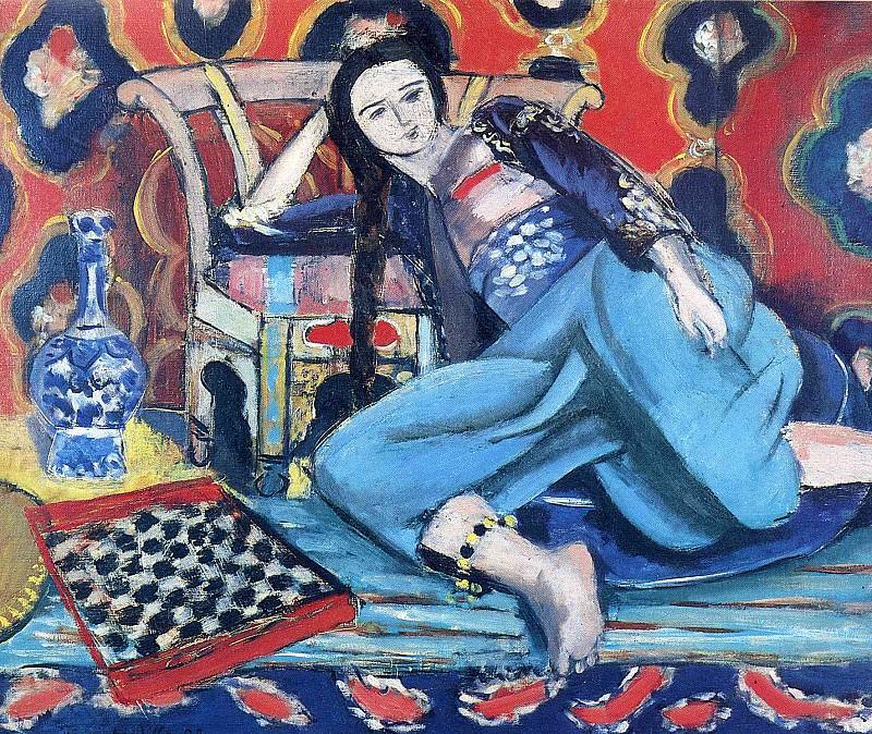 Одалиска с турецким стулом, 1928. Анри Матисс
