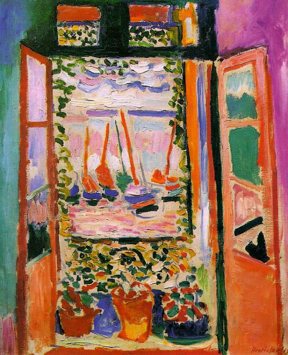 Open Window, Collioure, 1905, oil on canvas, private. Henri Matisse