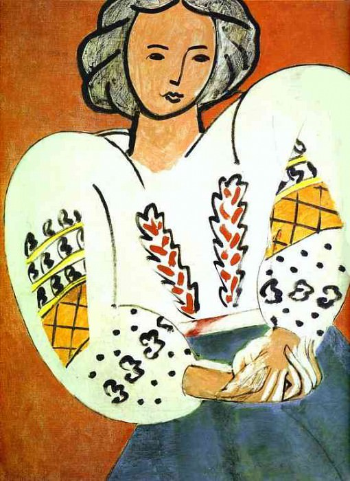 румынская блуза, 1940. Анри Матисс