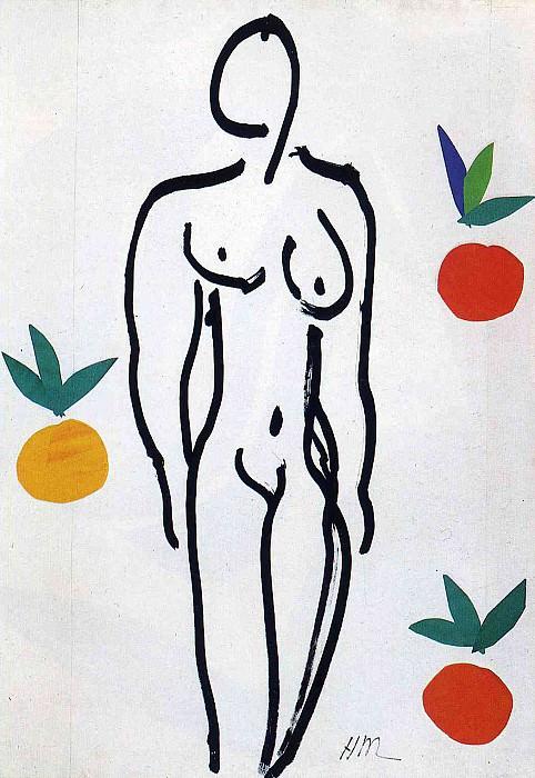 Женщина и апельсины, 1953. Анри Матисс