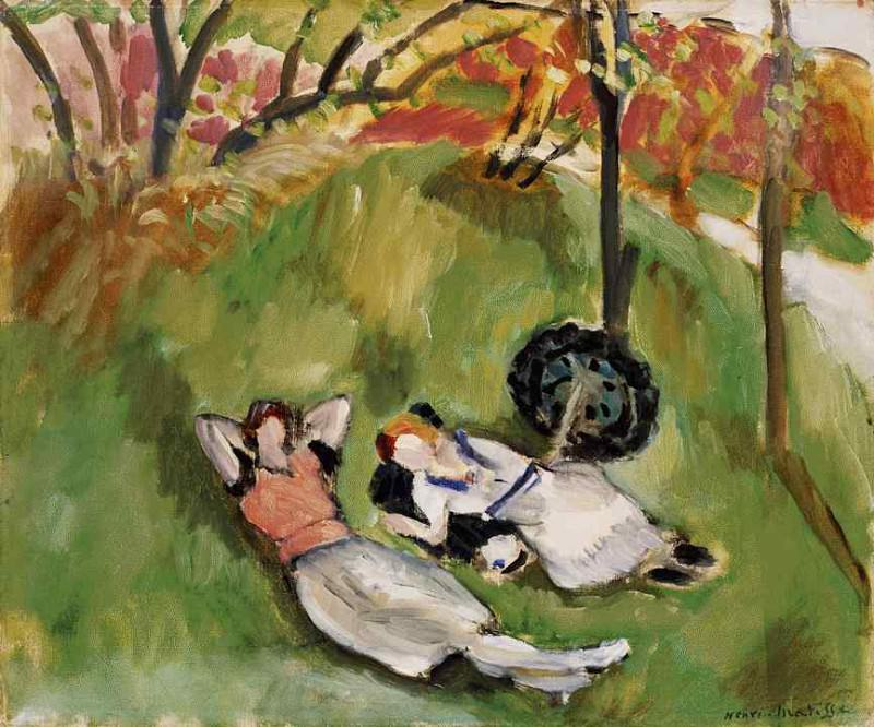 Two Figures Reclining in a Landscape, 1921, Barnes f. Henri Matisse