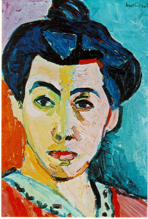 1905 Portrait of Madame Matisse (Green Stripe). Henri Matisse