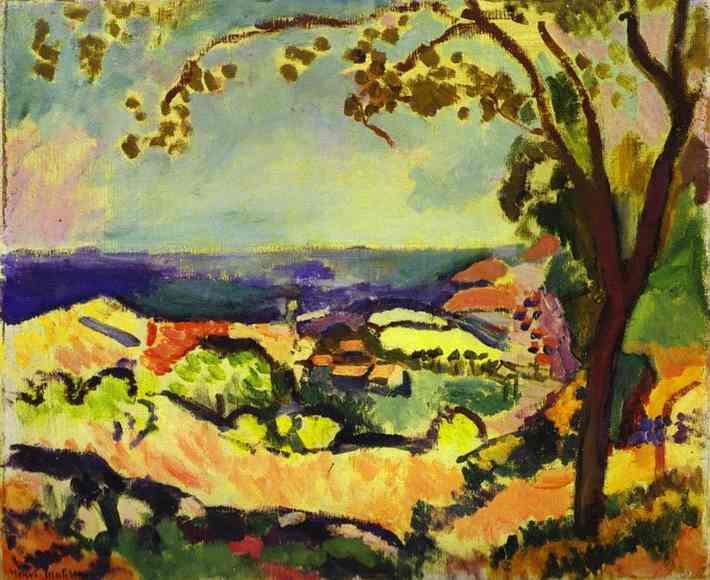 La mer vue a Collioure. Henri Matisse