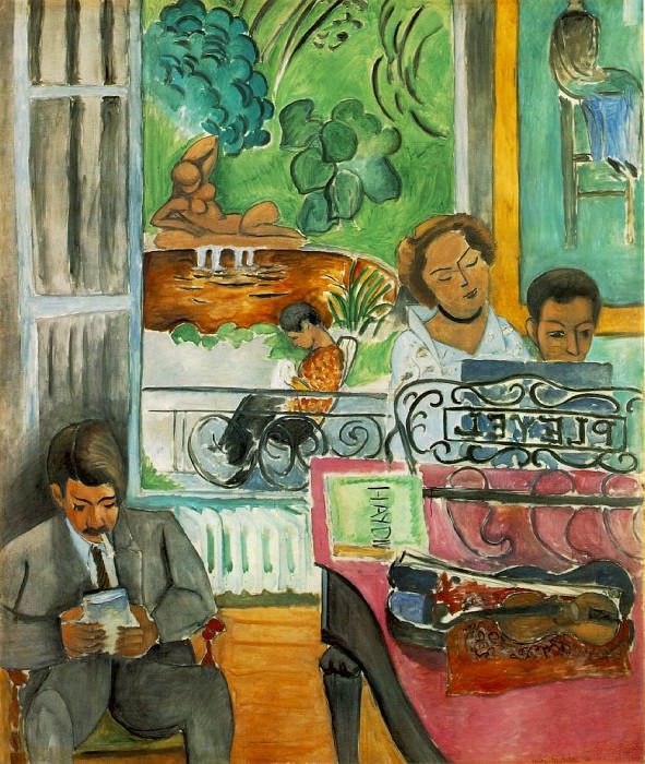 The Music Lesson (La lecon de musique), 1917, 244.7x. Henri Matisse