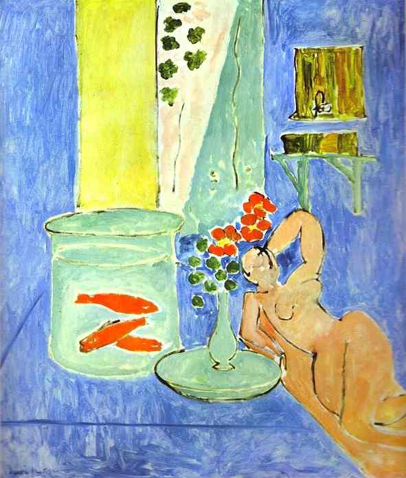 Red Fish and a Sculpture. Henri Matisse