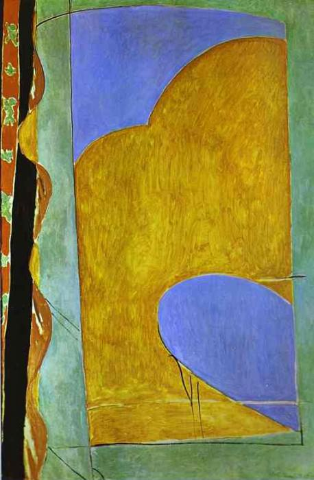 Yellow Curtain. Henri Matisse