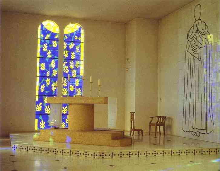 Interior of the Chapel of the Rosary, Vence. Henri Matisse