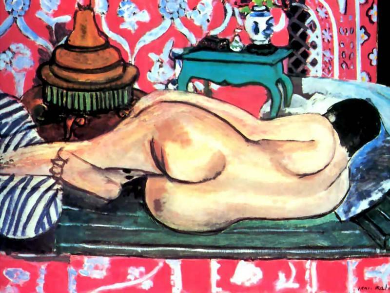 erotic art csg019 reclinnning nude back-henri matisse. Henri Matisse