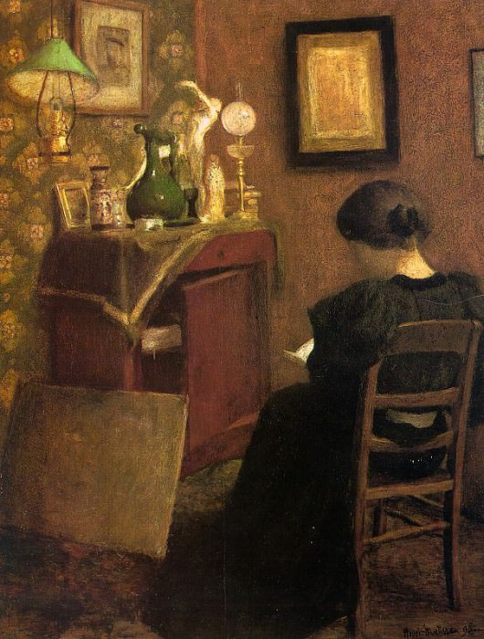 Woman Reading, 1894, oil on canvas, Musee National d. Henri Matisse