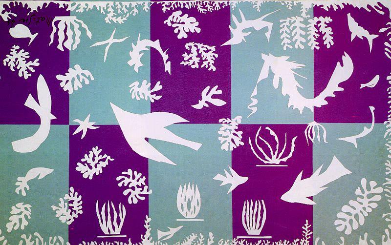 Polynesia, La Mer, 1946, paper cut-outs, Musee Natio. Henri Matisse