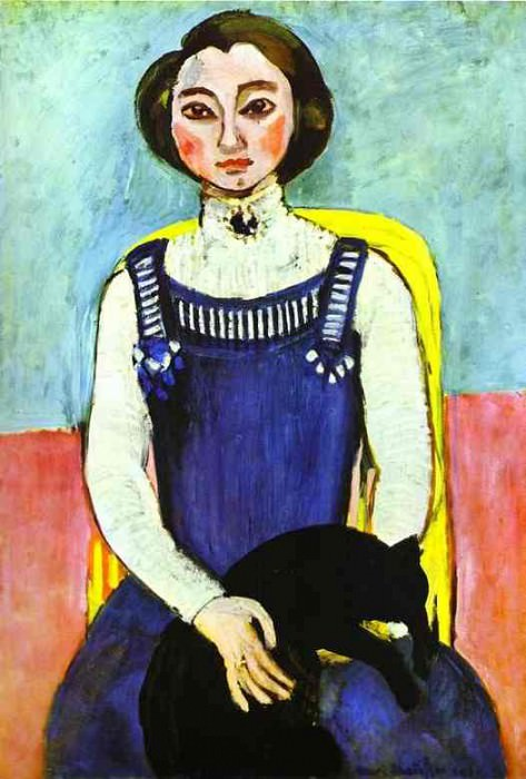 Girl with A Black Cat. Henri Matisse
