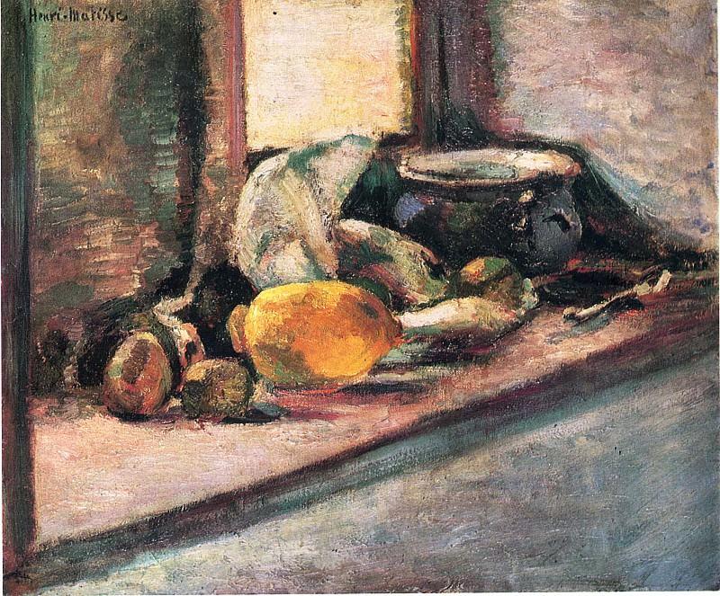 Синий горшок и лимон, 1897. Анри Матисс