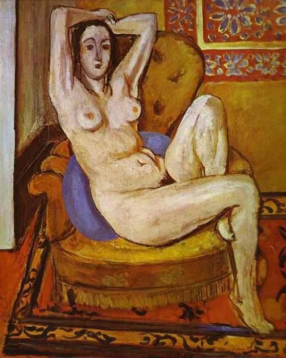 Nude on a Blue Cushion. Henri Matisse