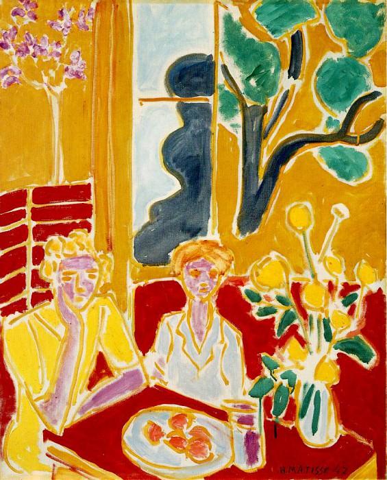 fillettes-jaune-rouge. Henri Matisse