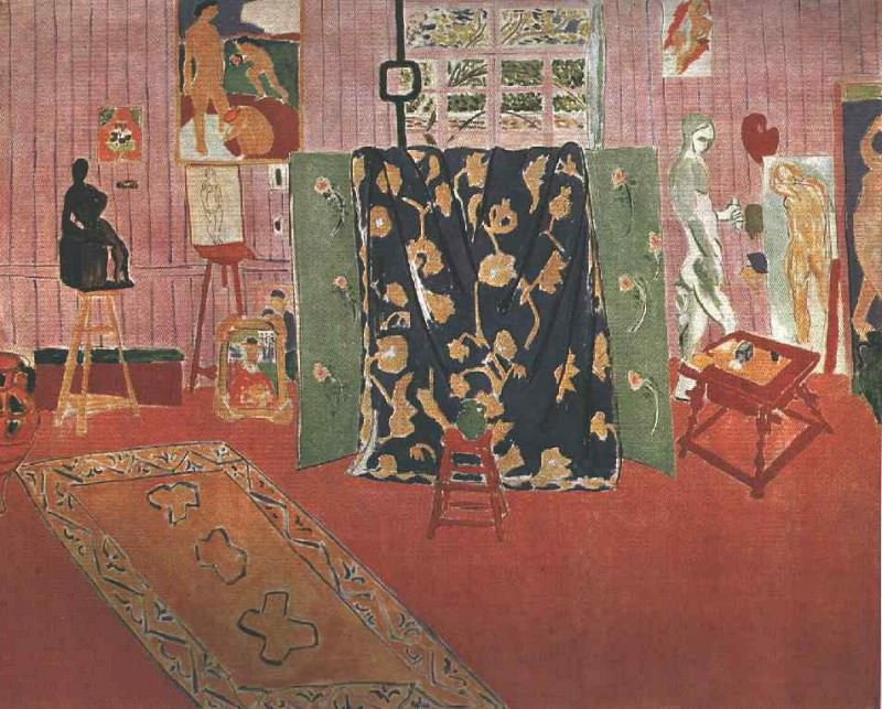 Pink Studio (LAtelier Rose), 1911, Oil on canvas Pu. Henri Matisse