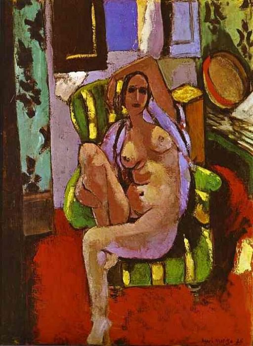 Nude Sitting in an Armchair. Henri Matisse