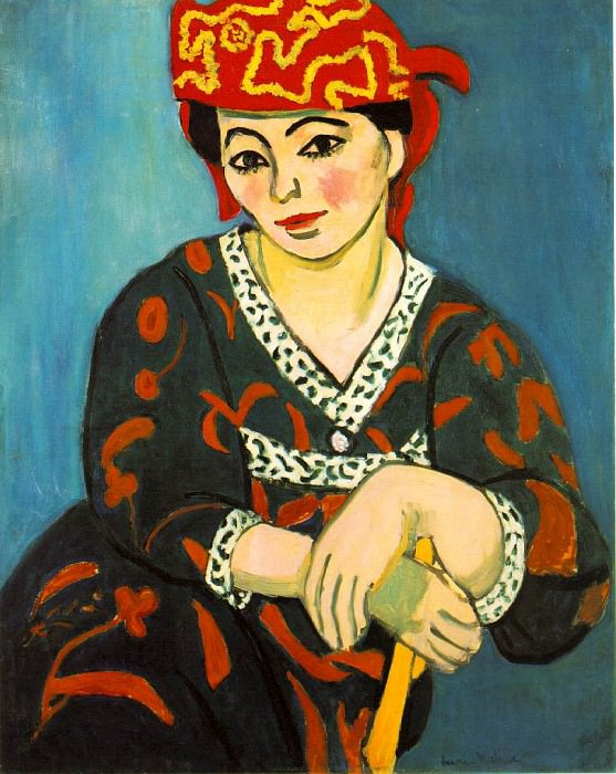 The Red Madras Headress (Mme Matisse - Madras Rouge). Henri Matisse