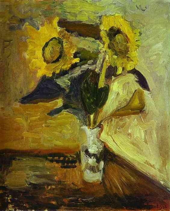 Vase of Sunflowers. Henri Matisse