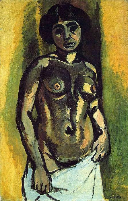 Обнаженная женщина (Черное с золотом), 1908. Анри Матисс