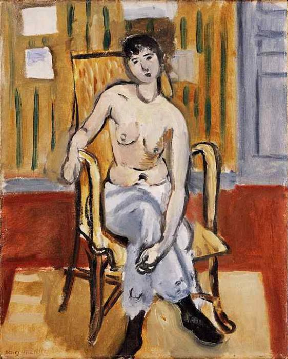 Seated Figure, Tan Room, 1918, Barnes foundation. Henri Matisse