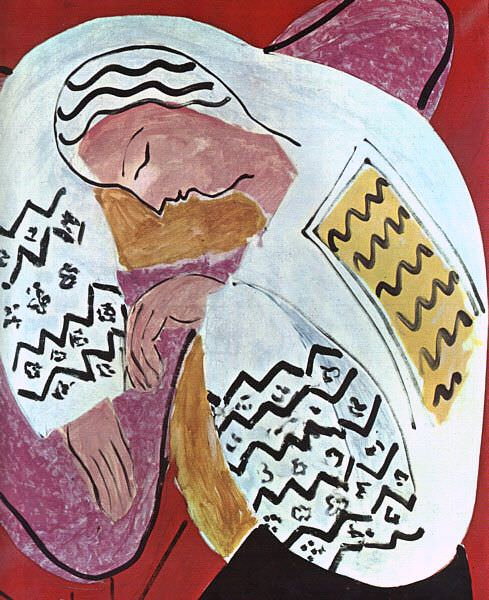 The Dream, 1940, private collection at Paris. Henri Matisse