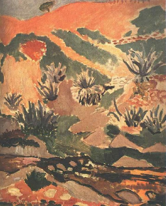 Landscape with Brook (Brook with Aloes), 1907, Priva. Henri Matisse